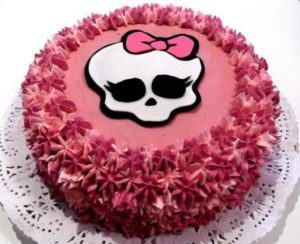 bolo decorado rosa