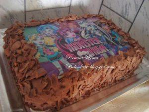 bolo de papel de arroz com chocolate
