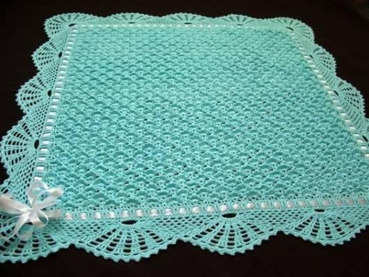 Manta de croch para beb 40 modelos gr ficos e receitas - Manta de crochet facil ...