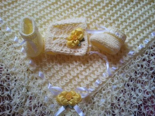 conjunto crochê para bebê