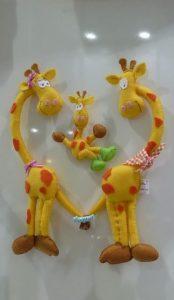 enfeite de girafa
