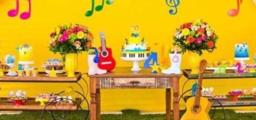 decoração com violão