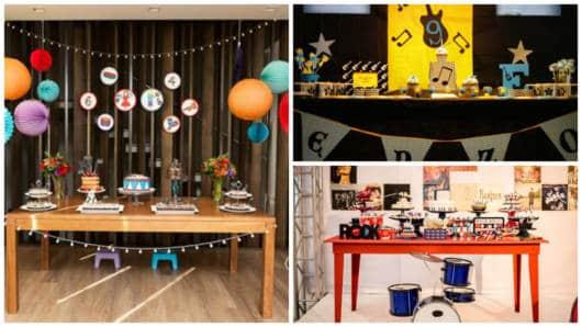 decoração festa infantil colorida