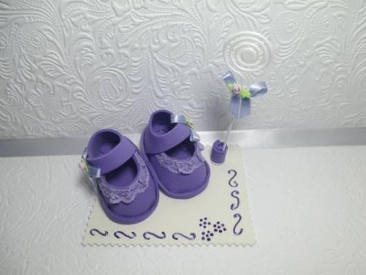 lembrancinha chá de bebê lilás