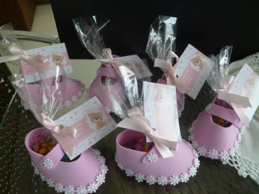 lembrancinha chá de bebê rosa
