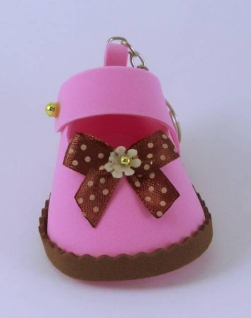 lembrancinha chá de bebê rosa e marrom