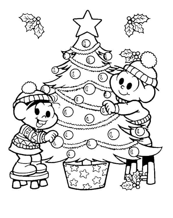 Cebolinha e Mônica para colorir