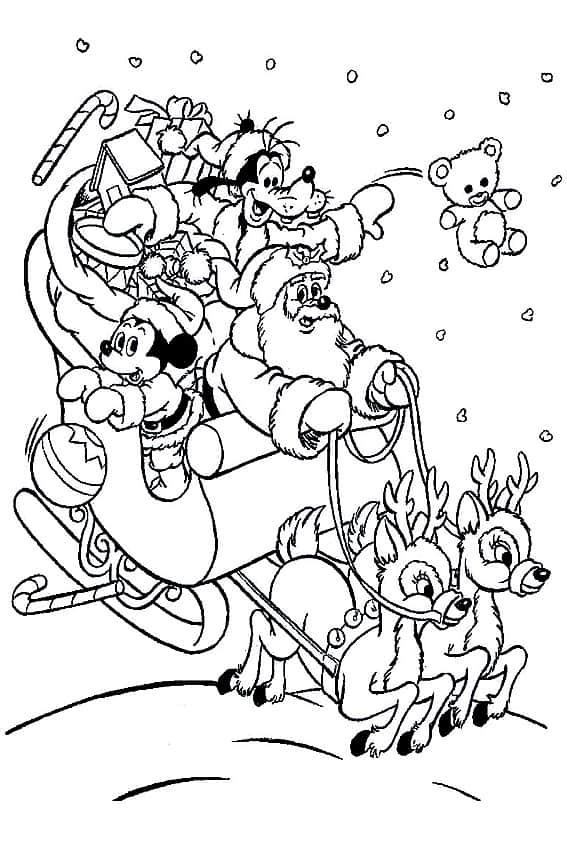 Mickey e Pateta para pintar