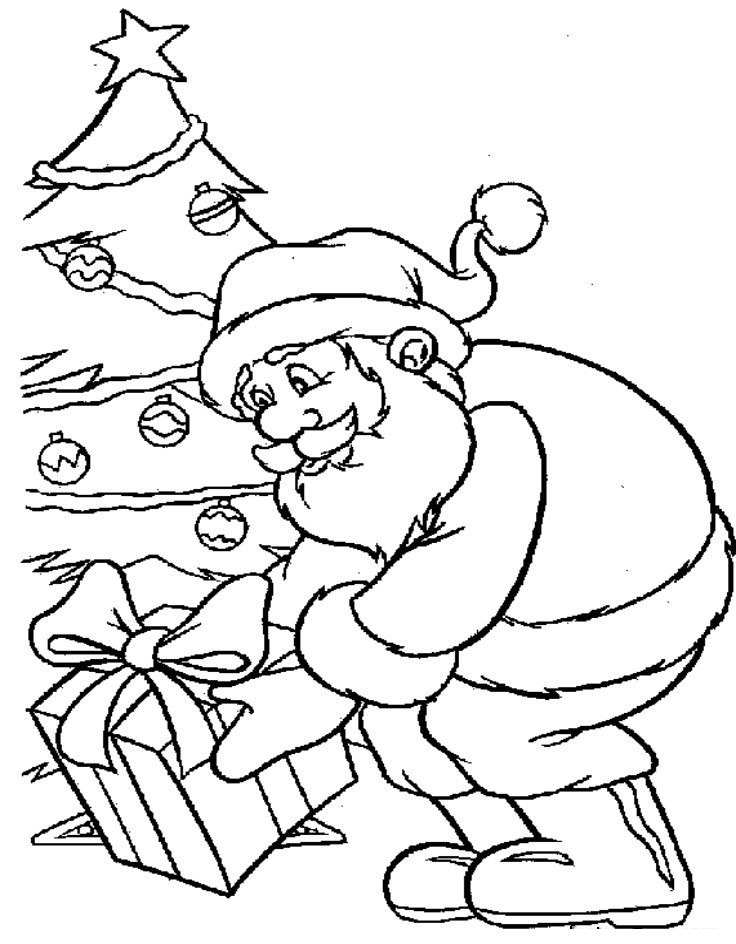 Desenhos Para Colorir Natalinos Papai Noel Melhores Casas
