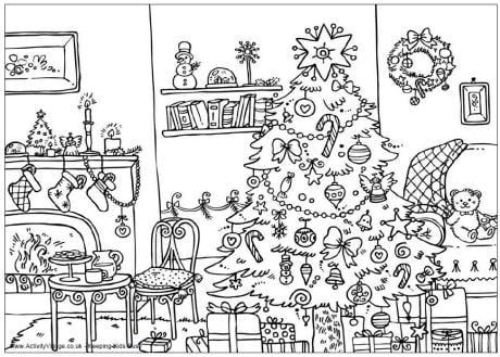 sala decorada natal