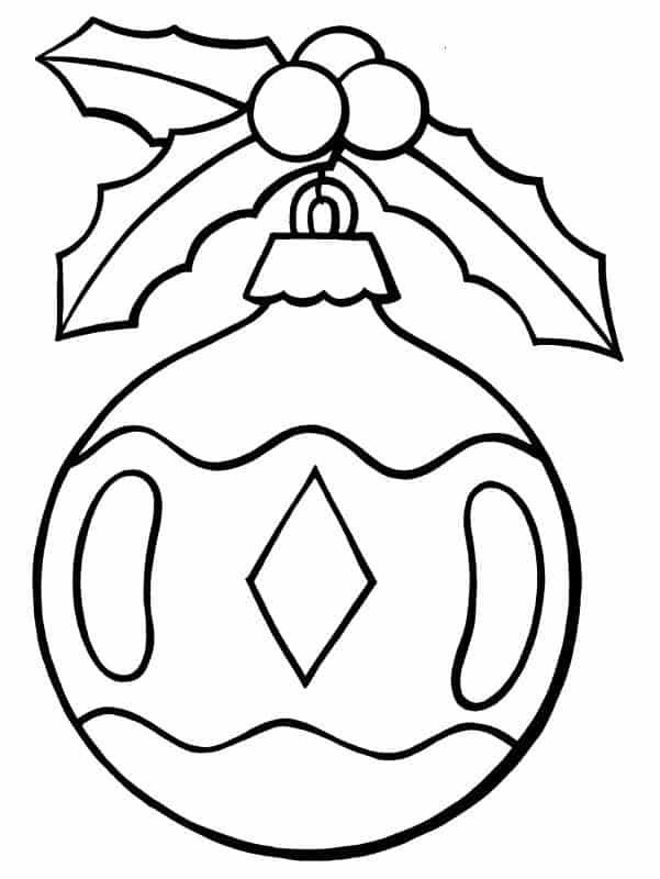 bola de natal simples