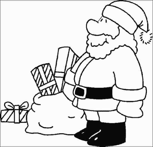 desenho simples Papai Noel