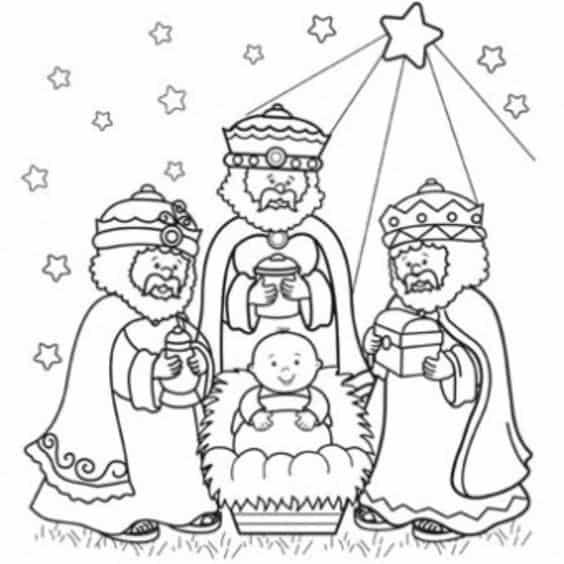 desenho Reis Magos