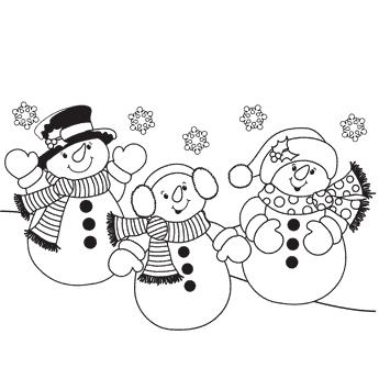 família bonecos de neve