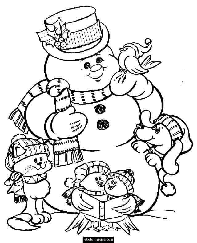 boneco de neve para pintar