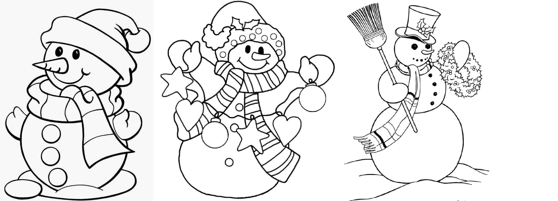 modelos de boneco de neve