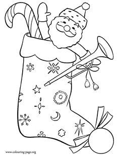 meia de natal com Papai Noel