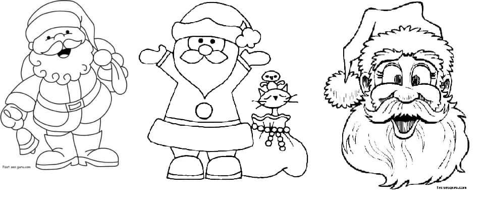 desenhos Papai Noel