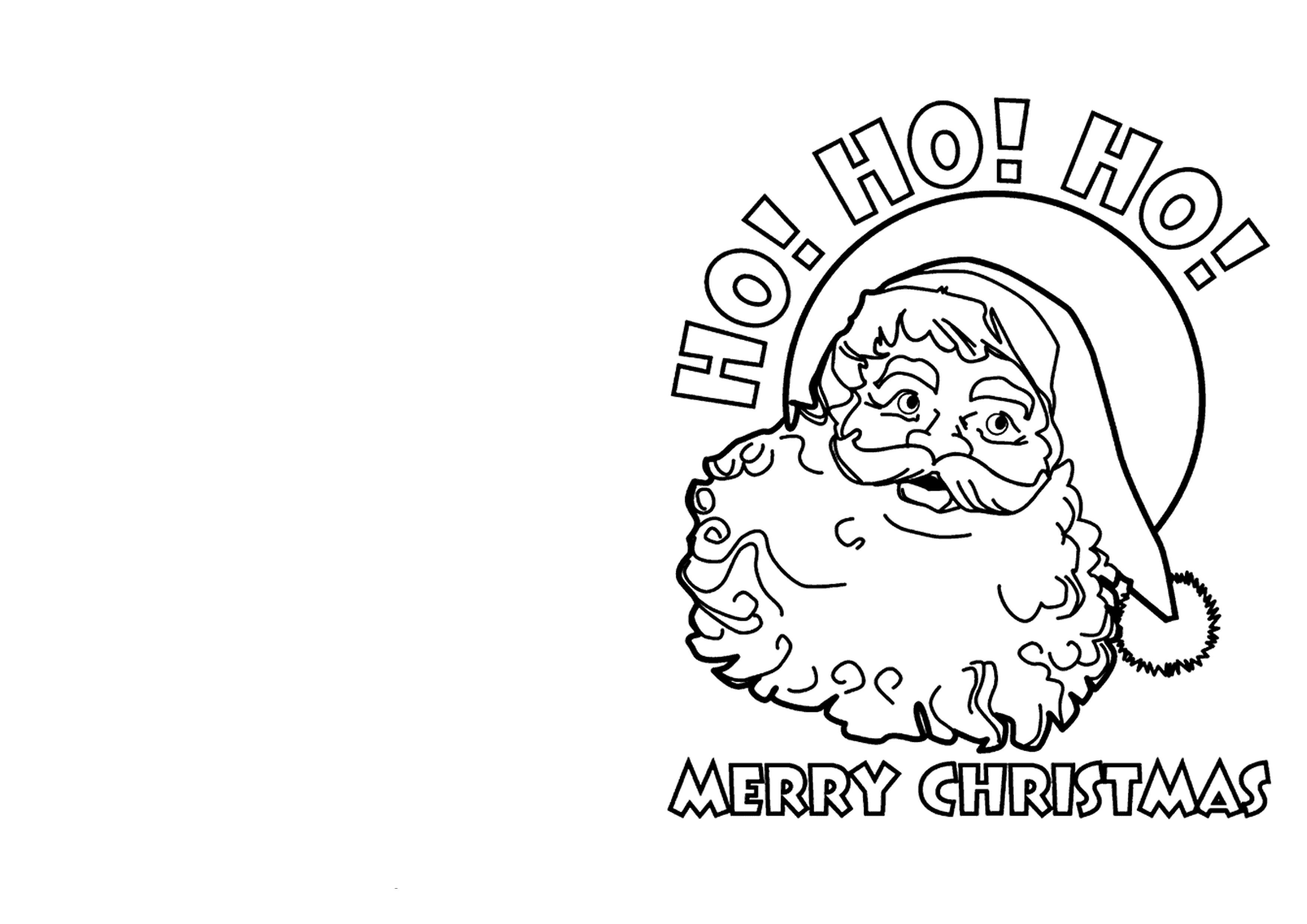 cartão com Papai Noel