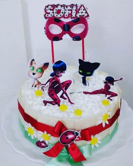 Ladybug Girl Cake Topper