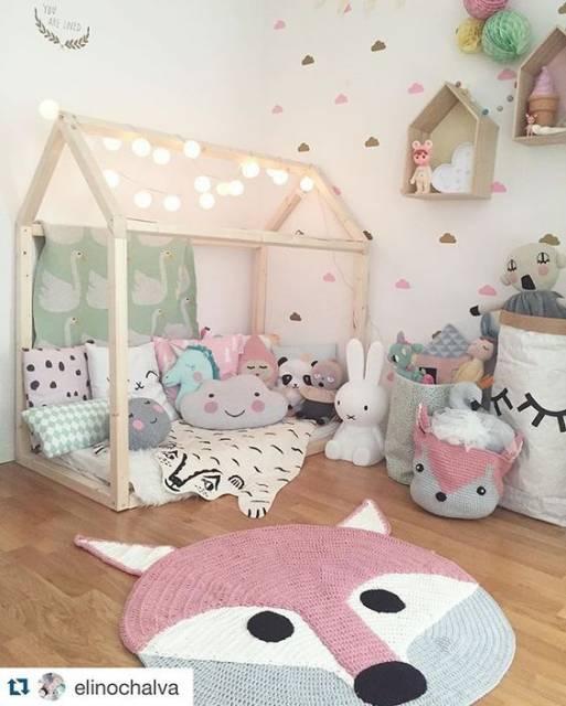 Nicho casinha como usar na decoração e tutoriais de como  ~ Tapete Para Quarto Infantil Rosa