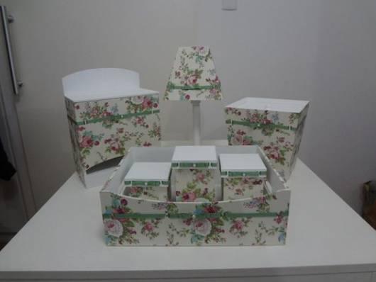 Kit higiene beb u00ea como montar, modelos e como fazer passo a passo! -> Como Decorar Kit Higiene Bebe Com Tecido