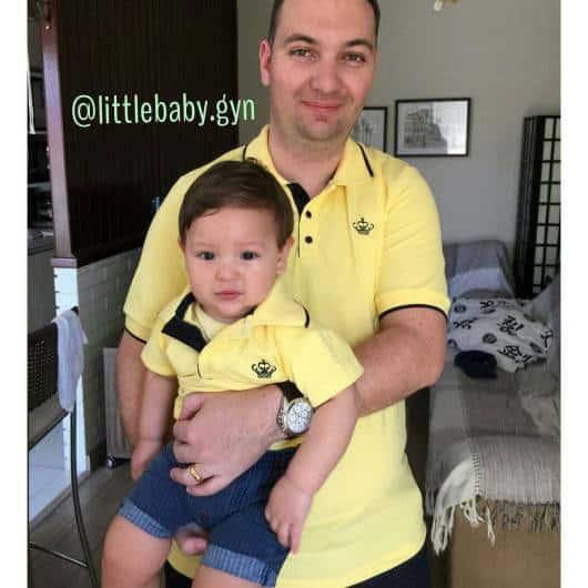 Tal Pai Tal Filho Camisa Polo Branca Little Baby Gyn Elo7  e34d376a10e26