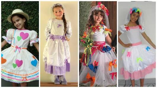 Vestido De Festa Junina Infantil48 Modelos Lindos E Tutoriais De