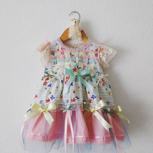 7844552ff1 Vestido de festa junina infantil 48 modelos lindos e tutoriais de ...