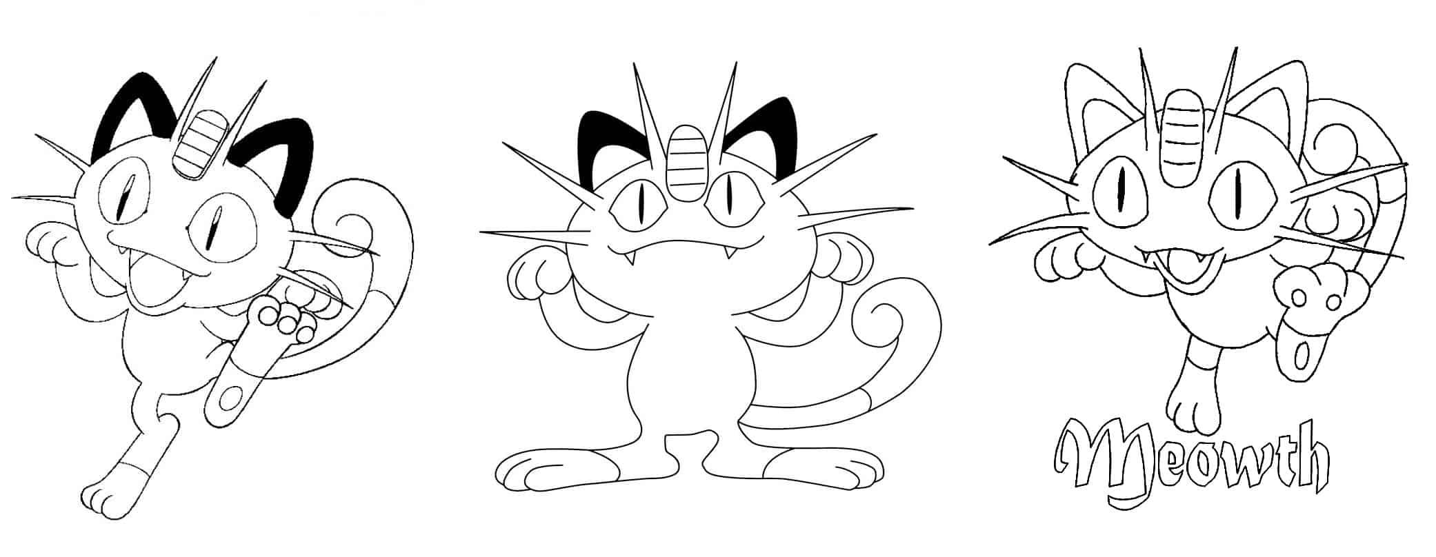 desenhos meowth