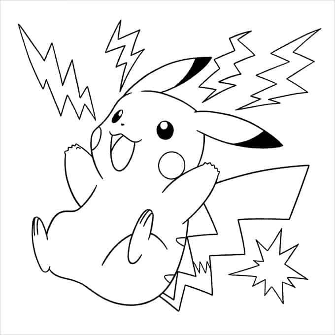desenho para pintar pikachu