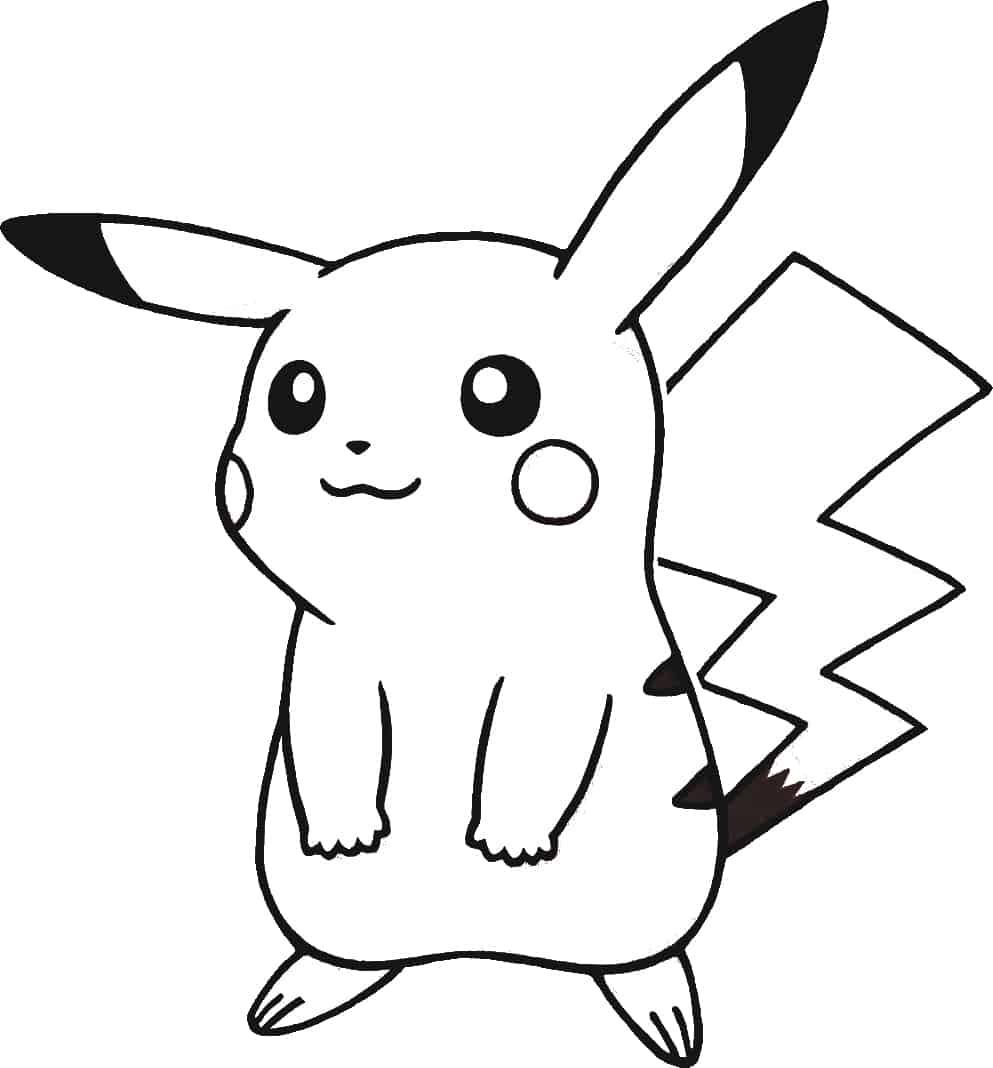 Desenhos para colorir do pok mon 45 desenhos para imprimir gr tis - Coloriage de pikachu ...