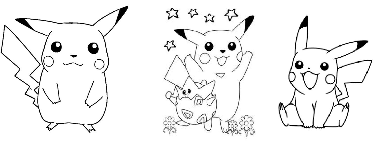 desenhos para pintar pikachu