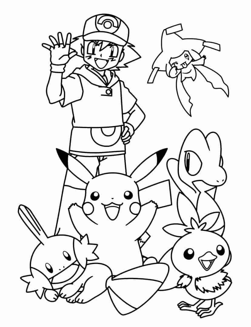 ash com pokemóns