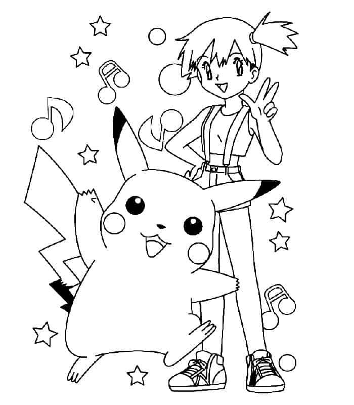 misty com pikachu