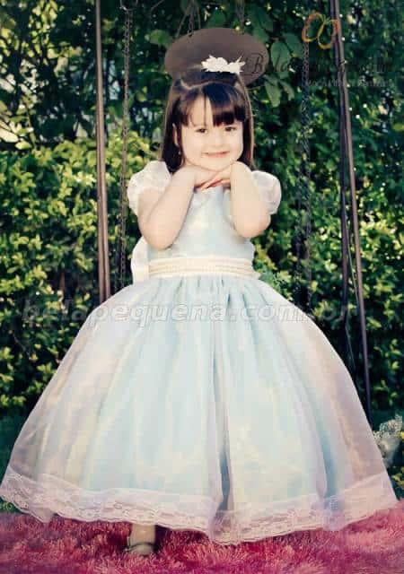 vestido de formatura infantil azul ideias