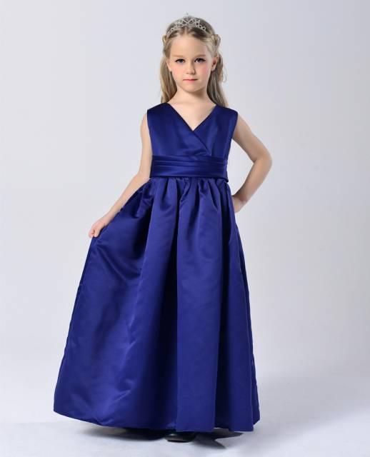 vestido de formatura infantil azul