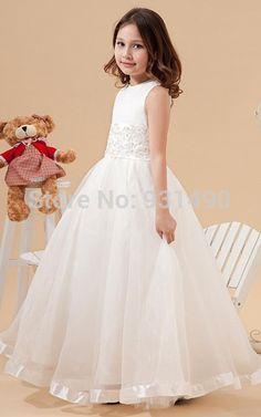 vestido de formatura infantil branco