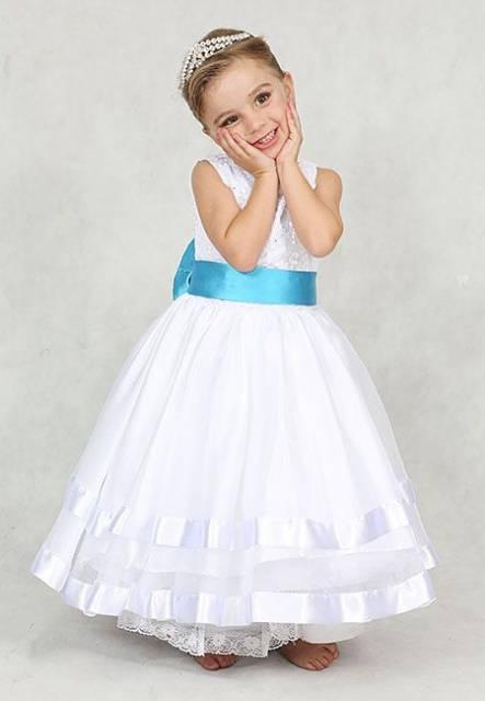 vestido de formatura infantil cinto