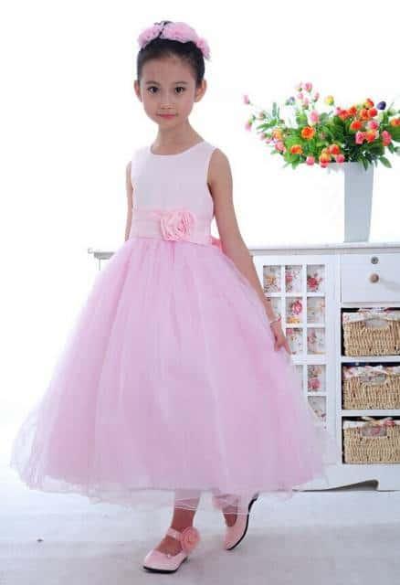 vestido de formatura infantil rosa ideias usar