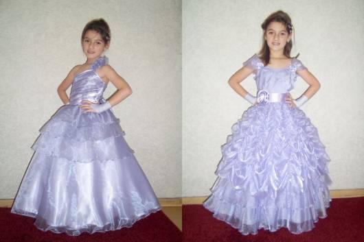 vestido de formatura infantil roxo