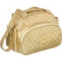 bolsa de bbebê dourada