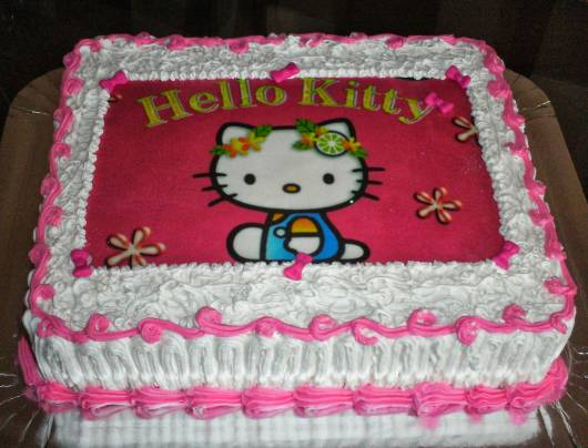 Festa Hello Kitty com papel de arroz