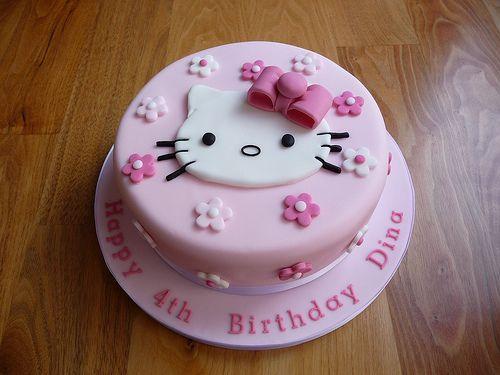 bolo para Festa Hello Kitty