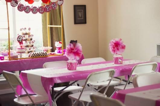 Festa Hello Kitty decoração simples