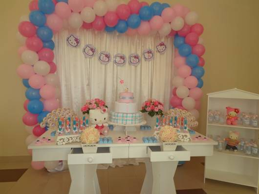decoração Festa Hello Kitty provençal