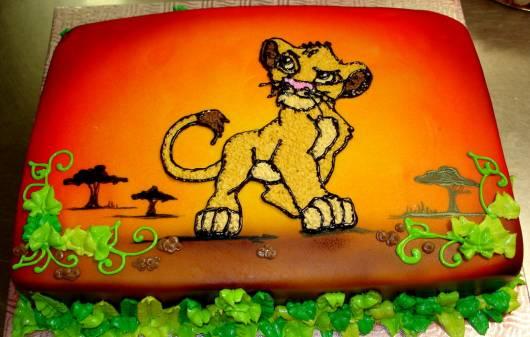 Festa Rei Leão bolo de glacê