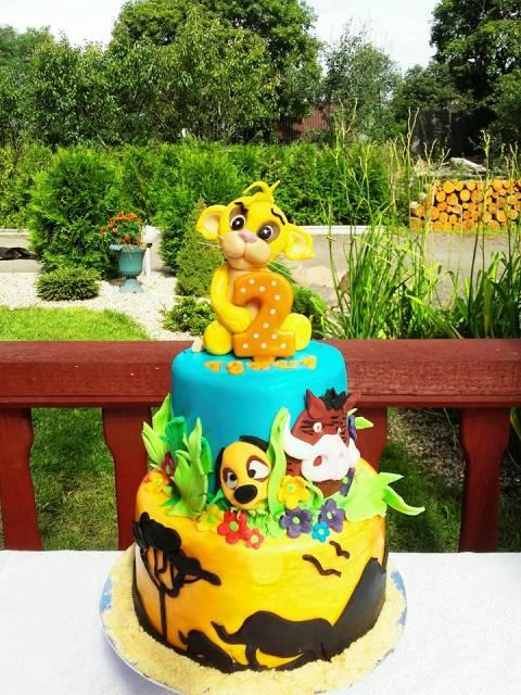Festa Rei Leão bolo de pasta americana