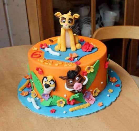 bolo Festa Rei Leão
