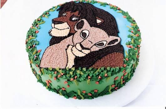 decoração de bolo Festa Rei Leão